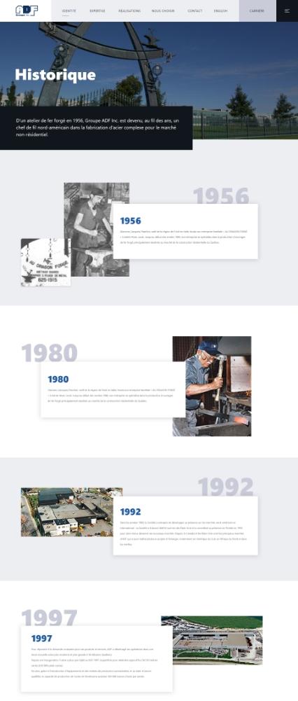 ADF-Historique